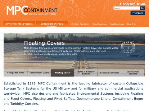 Oil Containment Booms and Collapsible Tank Solutions