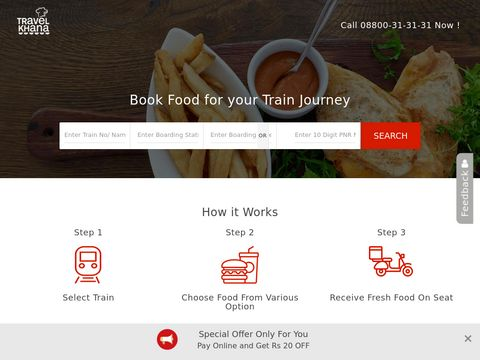 Food Delivery in Trains | Food for Train Journey | Train Food Service – TravelKhana.Com