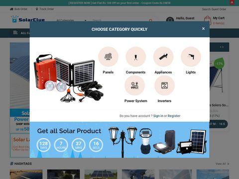 Indias first online solar store | SolarClue.com