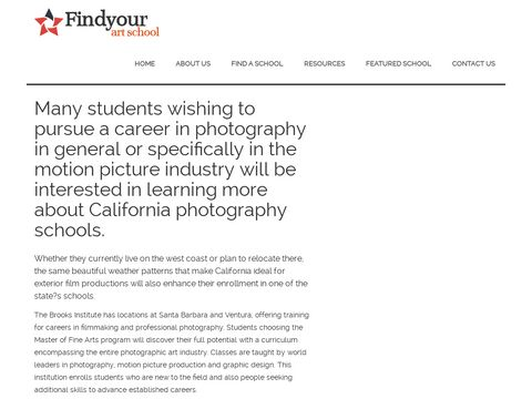 Photography Colleges in California