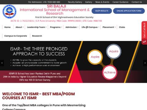 Shri Vighneshwara Education SocietyInternational School of Management & Research (ISMR)