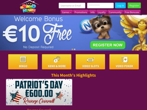 Play Online Bingo Games at the Worlds Best Online Bingo Hall.