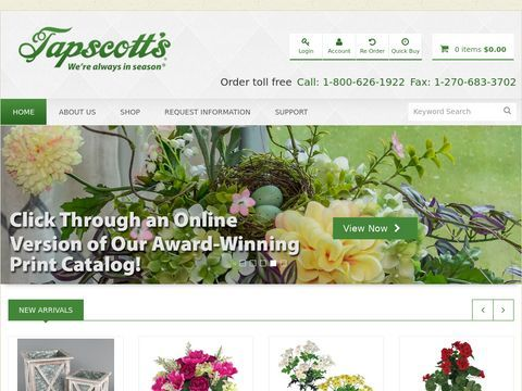 Silk Flowers | Artificial Floral Products | Permanent greenery | Tapscotts
