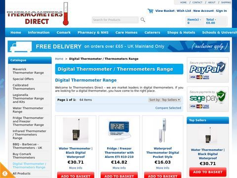 Digital Thermometers by Thermometers Direct
