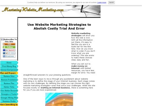 Website Marketing Strategies for the Internet Entrepreneur