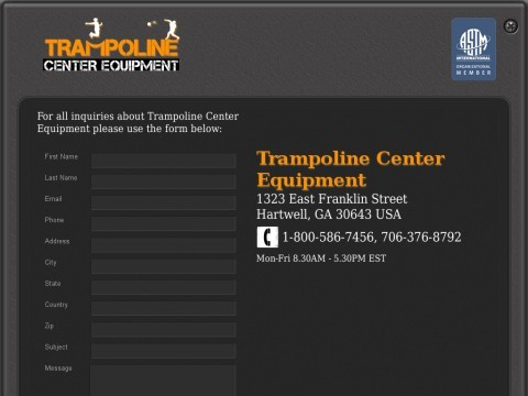 Trampoline Center Equipment