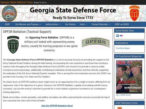 Georgia State Defense Force OPFOR Battalion