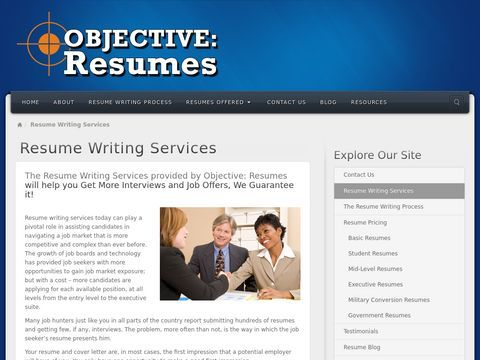 NJ Resume Writing Service - Resume Writing Services for All Resume Types: Objective: Resumes