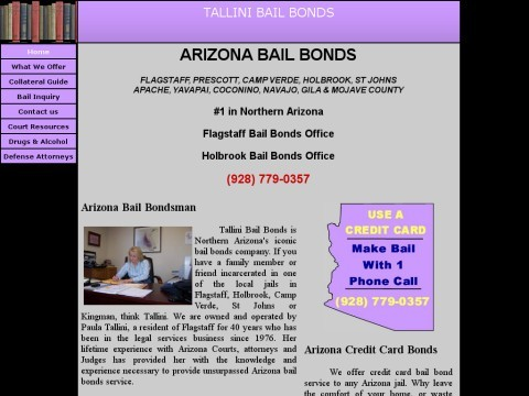Tallini Bail Bonds; Coconino County Bail Bonds Expert
