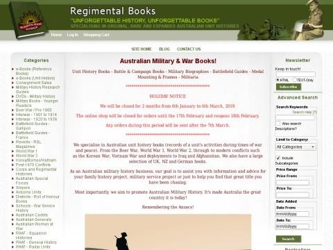 Regimental Books - Australian Military Books