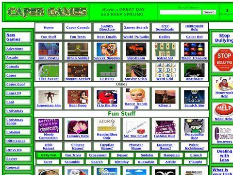 Caper Flash Games
