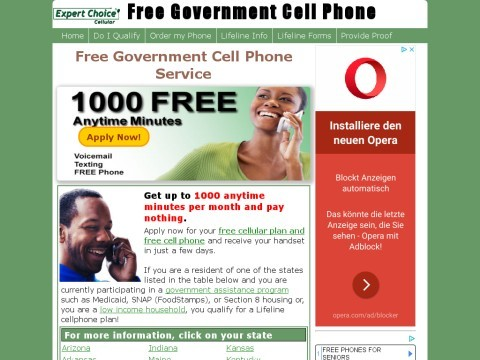 Free Government Cell Phone Plan & Service - Free Government Phones