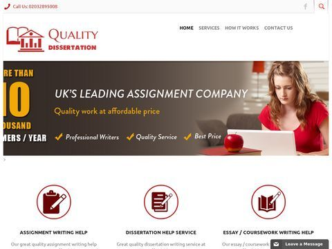 UKs Best Dissertation, Assignment, Essay & Coursework Help Service