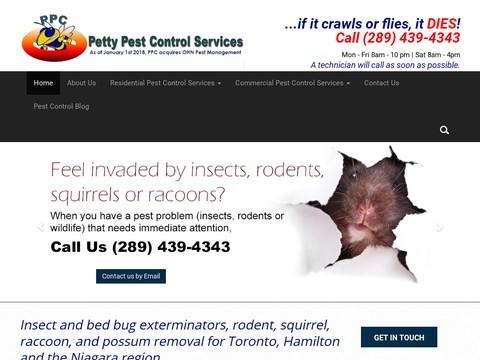 Petty Pest Control Services In Hamilton, Toronto & Niagara