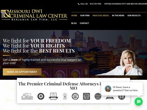 Missouri DWI & Criminal Law Center at Benjamin Law Firm, LLC