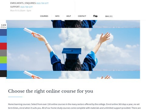 UK Open College - Home Learning Courses Study At Home - Home Learning