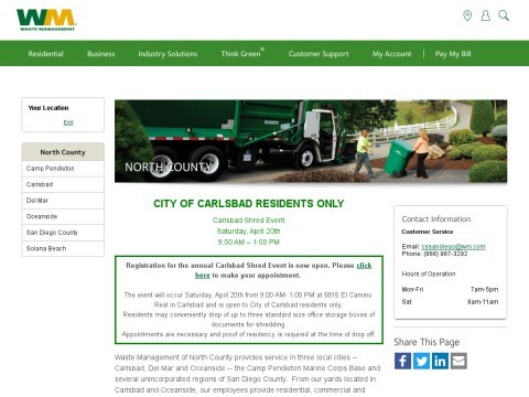 Waste Management Of North County San Diego