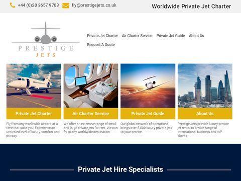 Private Jet Charter | Private Jet Hire | Prestige Jets