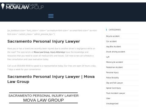 Sacramento Personal Injury Lawyer | Mova Law Group