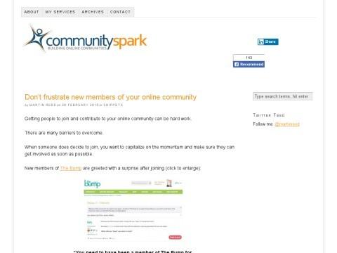Online Community Building Blog