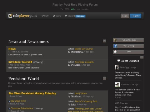 Roleplayer Guild - Forum Based Roleplaying
