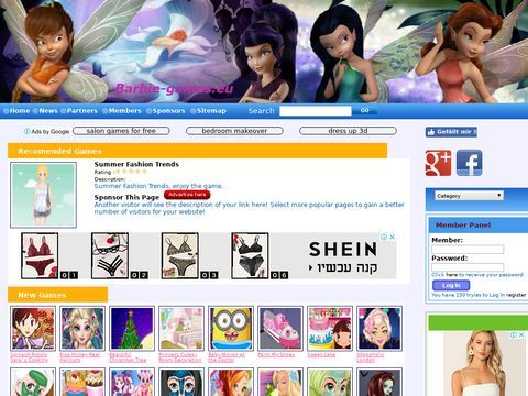 Flash games with Barbie doll
