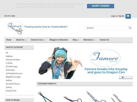 Sewing & Quilting Scissors by Famore Cutlery