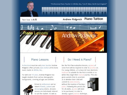 Andrew Ridgwick - Piano & Keyboard Tuition