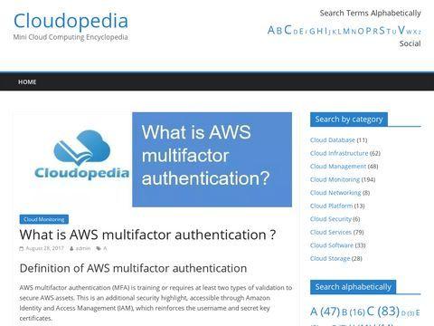 Cloudopedia - Cloud Computing Definitions