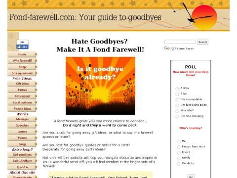 How to have a fond farewell