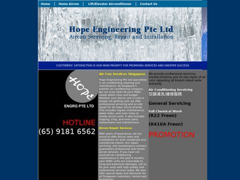 Hope Engineering : Budget & Reliable Aircon Servicing : Normal Chemical    Svc + Clear Pipe S$25