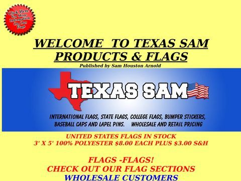 Texas Sam Products & Flags
