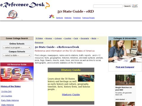 e-ReferenceDesk - Guide to the 50 US States