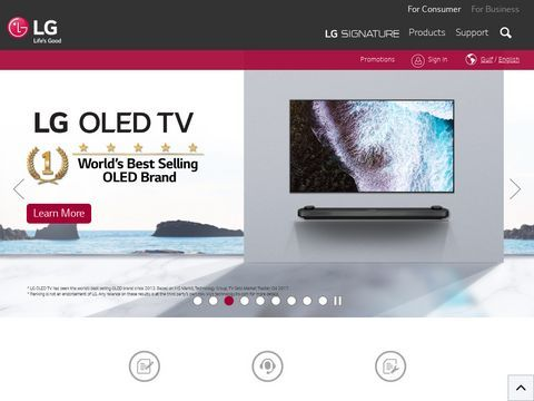 The official site of  LG Electronics UAE