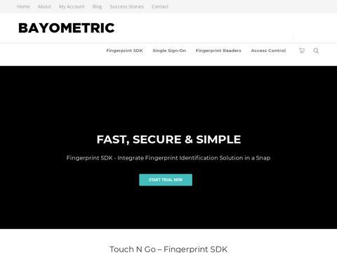 Biometric Identity Management, SDKs and Fingerprint Scanners
