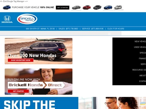 Brickell Honda –leading Honda car dealership at Miami, SF