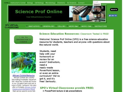 Science Answers at Science Prof Online