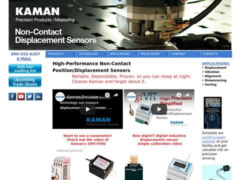 Kaman Precision Products/Measuring, Displacement Sensors