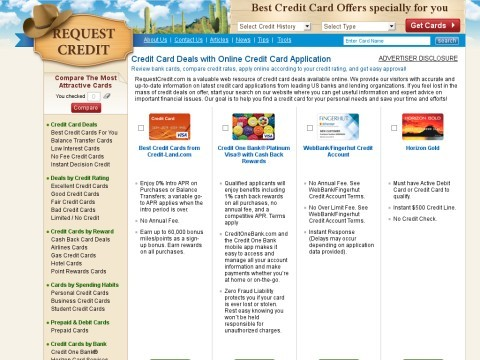 Most Requested Credit Cards