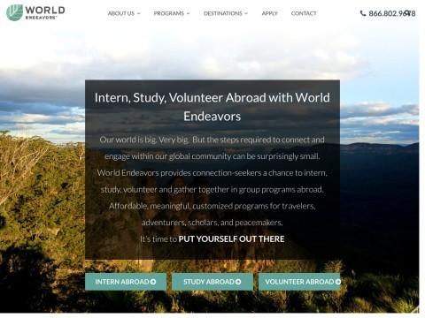 Study, Volunteer, Intern - WorldEndeavors.com