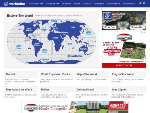 World Atlas of Maps Flags and Geography Facts and Figures.