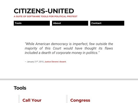 Citizens United For Democracy   Vanguard of American Values