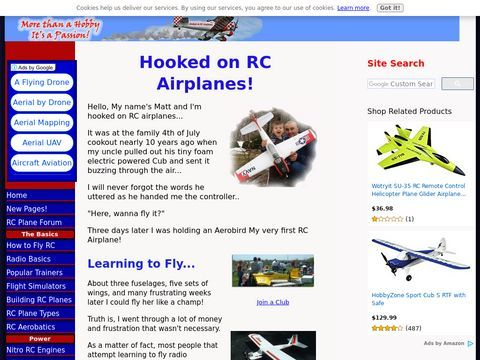 Hooked on RC Airplanes