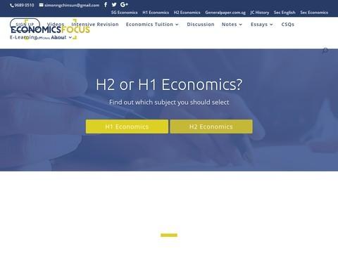 Economics Focus offers  a level economics tutors