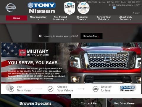 Tony Nissan - Leading Nissan car dealer