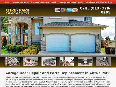 Citrus Park Local Garage Door