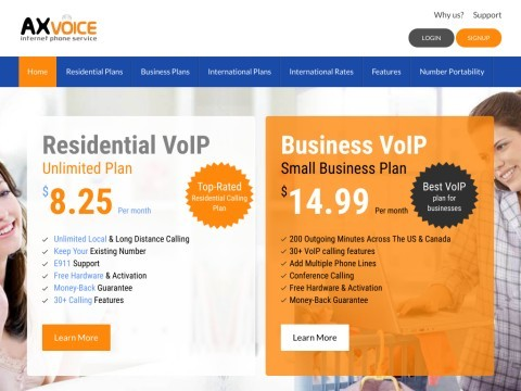Axvoice -  VOIP Internet Phone Service Provider
