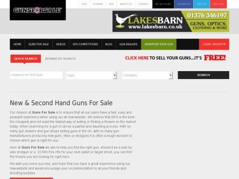 New & Second Hand Guns for sale, Shotguns, rifles, air guns for sale