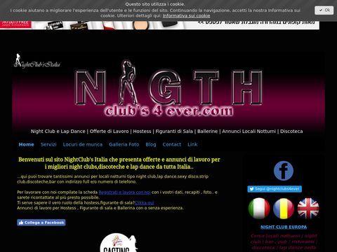 Offerte di lavoro e locali notturni - Night Clubs Italia