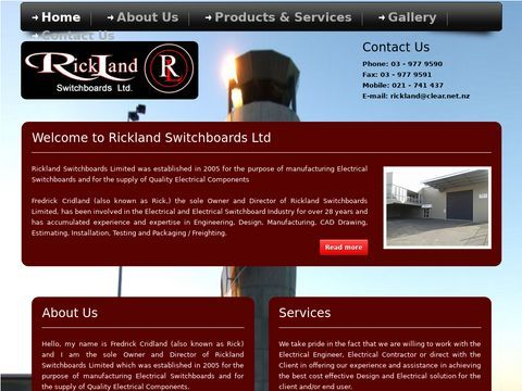 Rickland | Custom Build, Industrial Electrical Switchboards | Christchurch, NZ